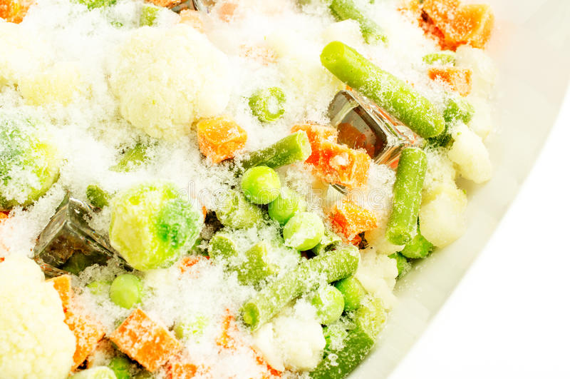 Verduras congeladas imagen de archivo