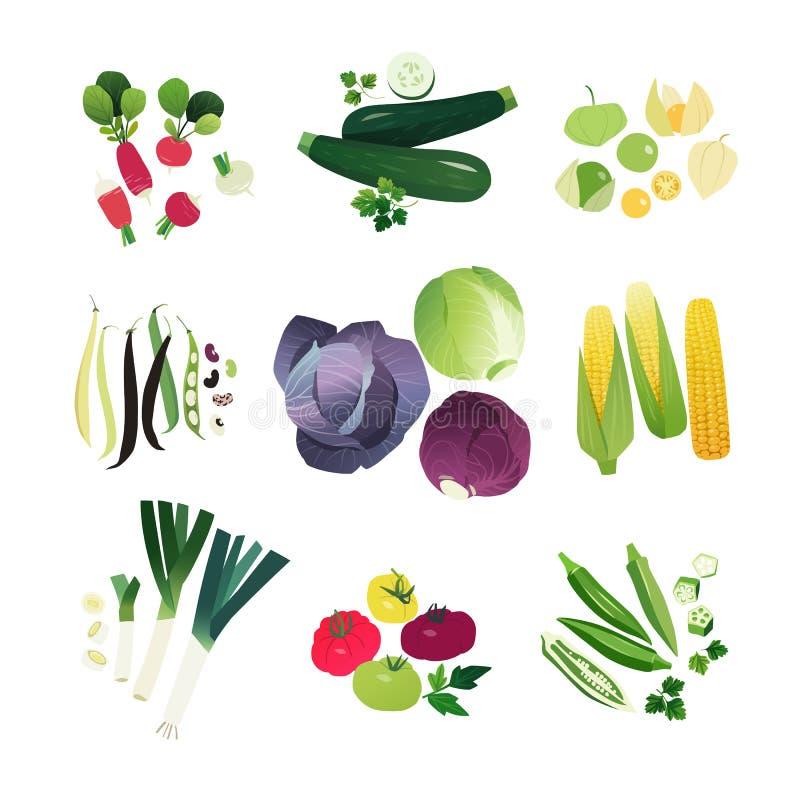 Verduras del clip art fijadas ilustración del vector