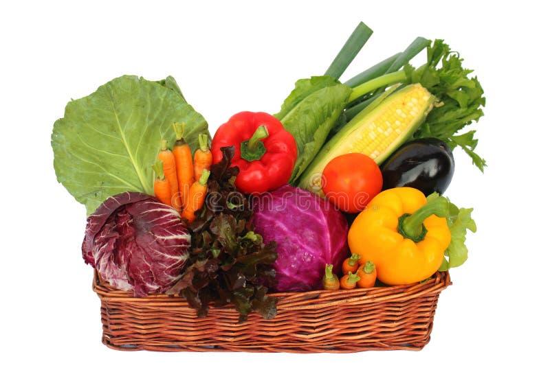 Verduras en cesta foto de archivo libre de regalías