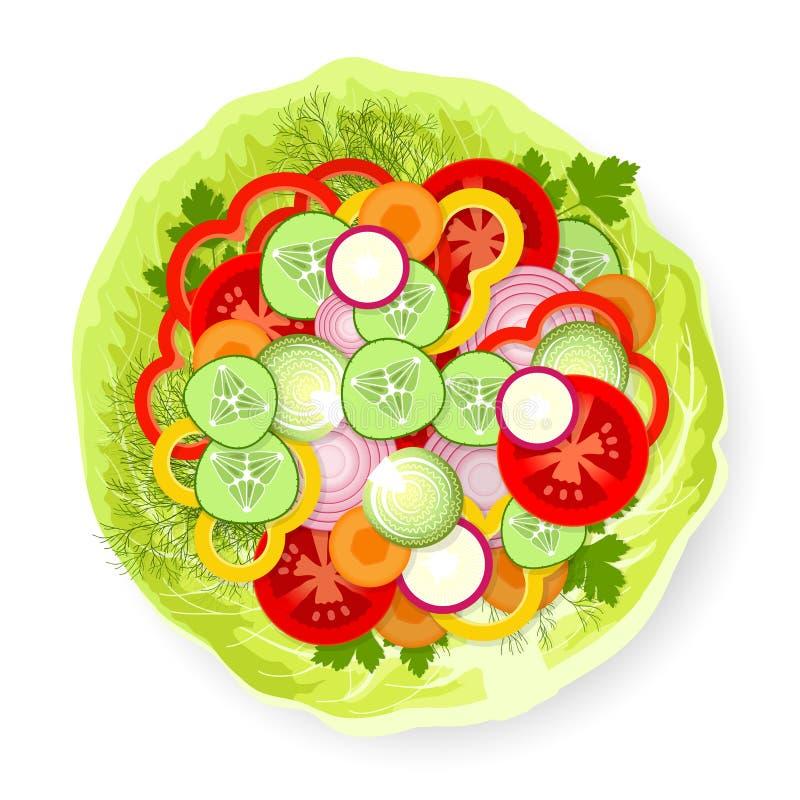 Verduras en la hoja de la col libre illustration