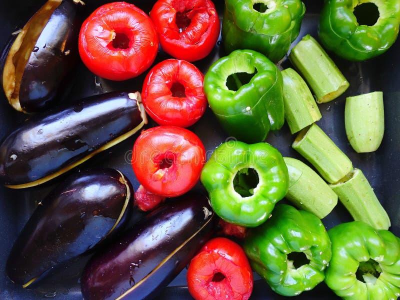 Verduras en Pan Ready para rellenar fotos de archivo