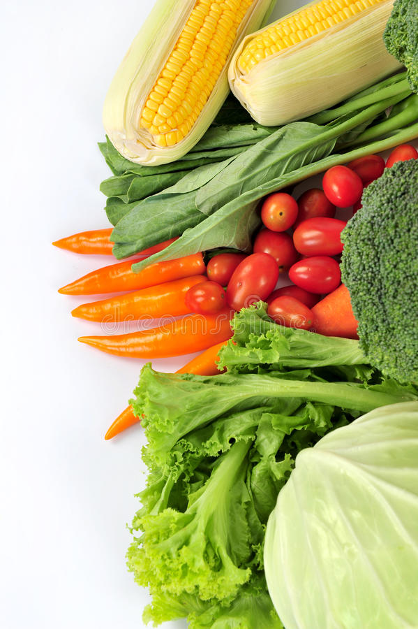 Verduras frescas aisladas foto de archivo libre de regalías