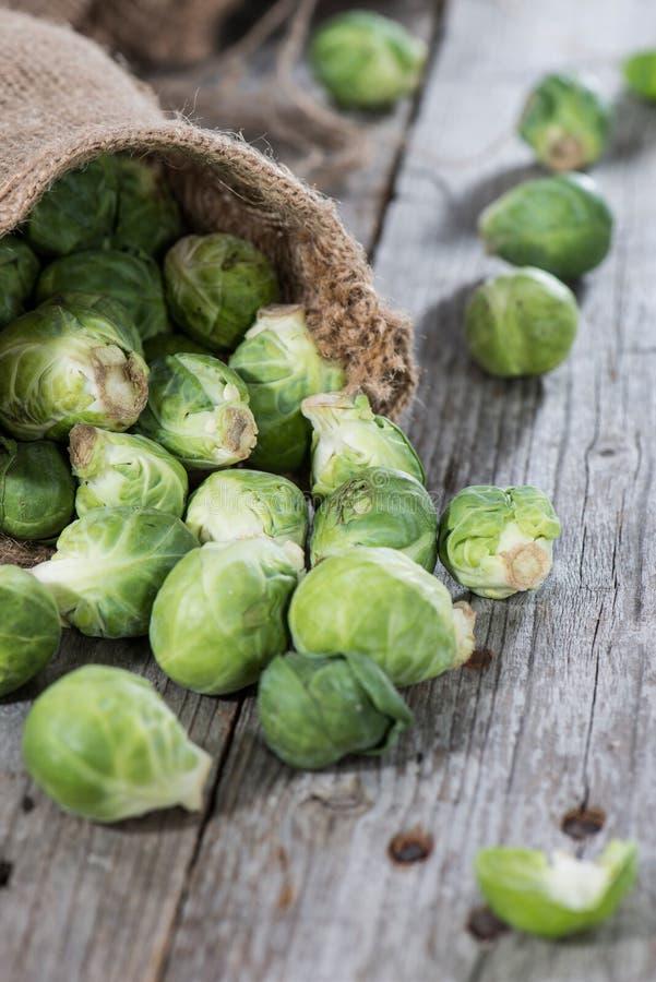 Verduras frescas (coles de Bruselas) fotos de archivo libres de regalías