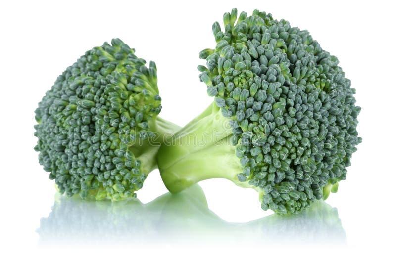Verduras frescas de la consumición sana del bróculi aisladas foto de archivo