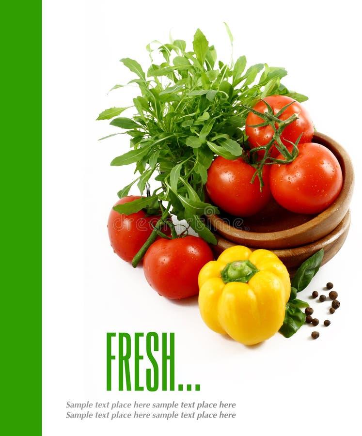 Verduras frescas en el fondo blanco imágenes de archivo libres de regalías