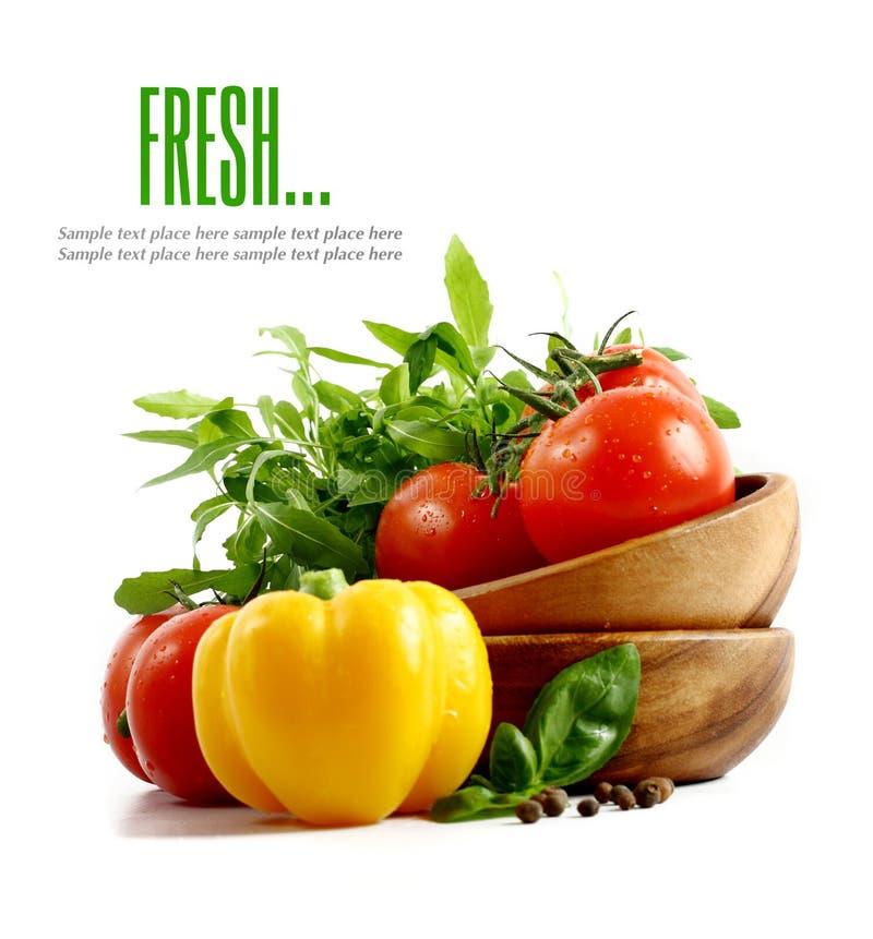 Verduras frescas en el fondo blanco imagen de archivo libre de regalías