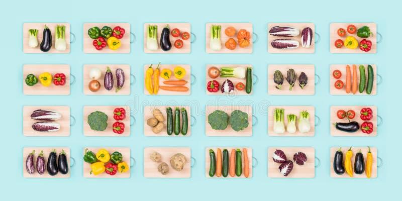 Verduras frescas y consumición sana fotos de archivo