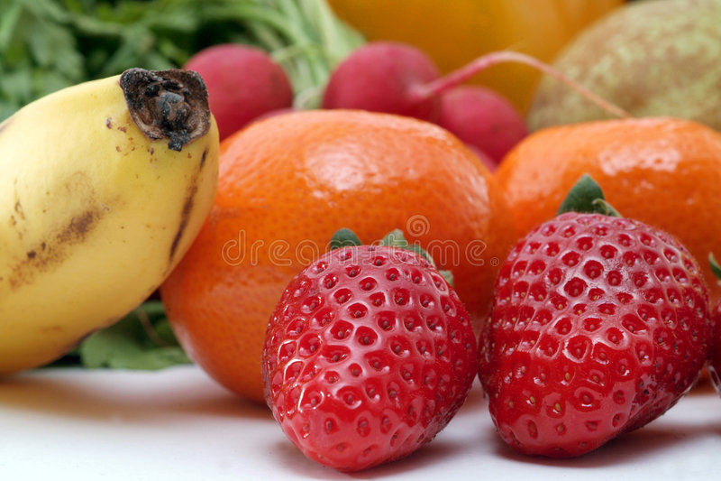 Verduras frescas y frutas imagenes de archivo