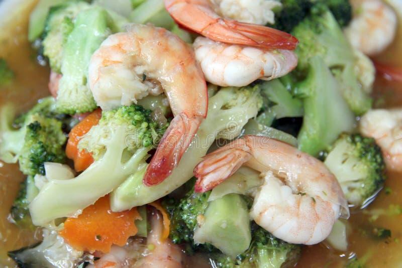 Verduras fritas camarón. fotografía de archivo libre de regalías