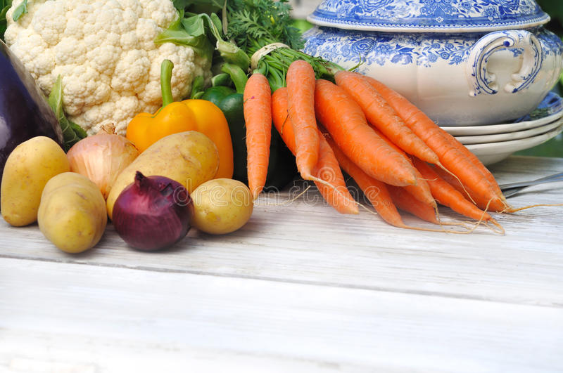 Verduras para el potage fotografía de archivo