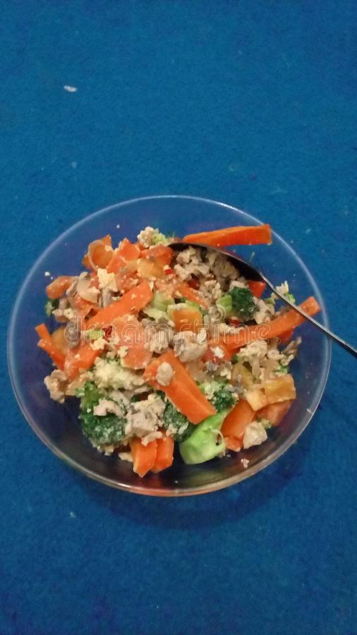 Verduras, pescados, huevos imagen de archivo libre de regalías