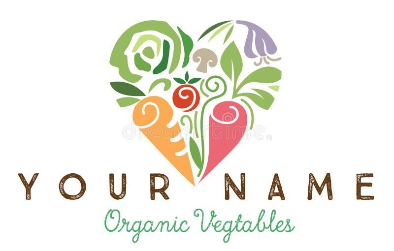 Verduras sanas del corazón ilustración del vector