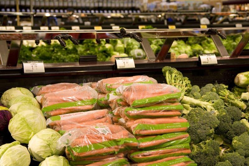 Verduras sanas en supermercado imagen de archivo libre de regalías