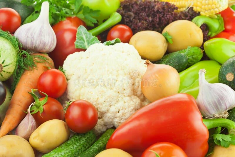 Verduras/fondo sanos frescos de la comida