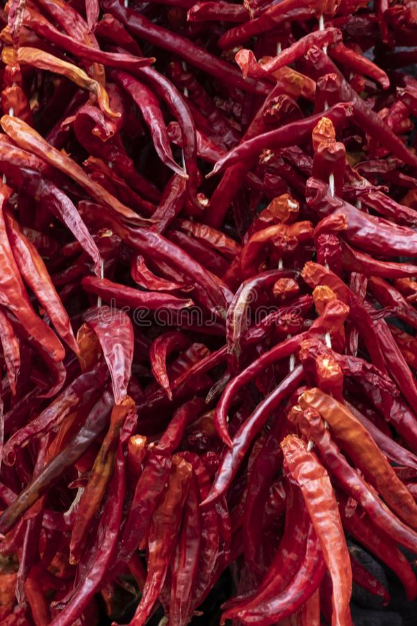 Verduras secadas en Gaziantep imagenes de archivo