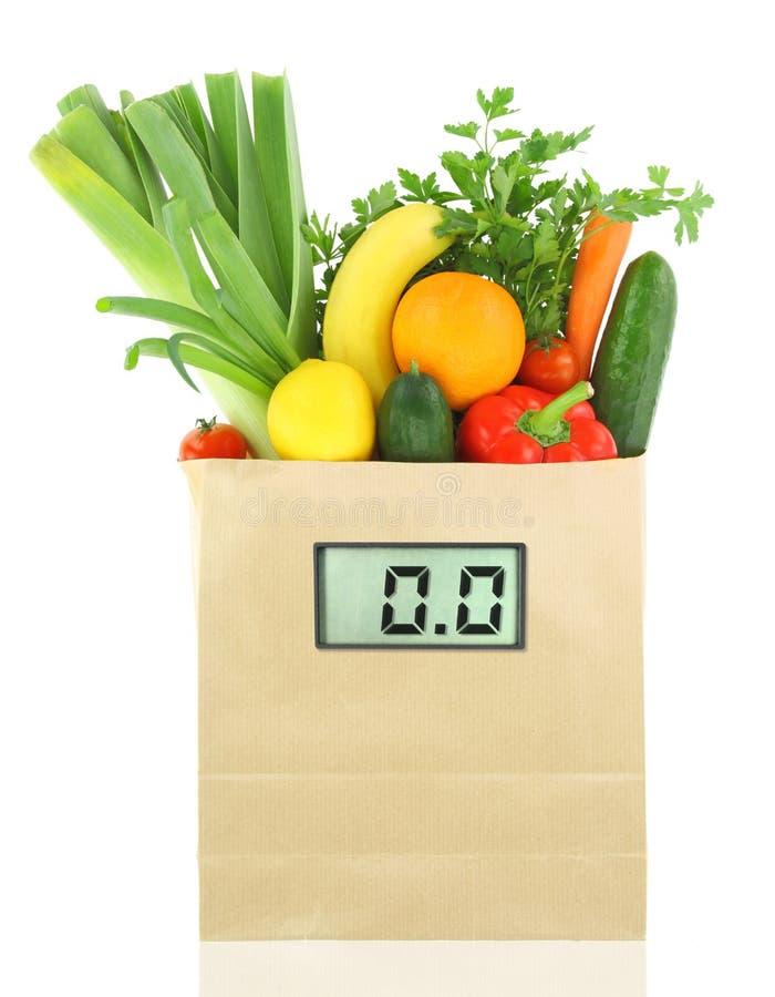 Verduras y frutas para la dieta imagen de archivo