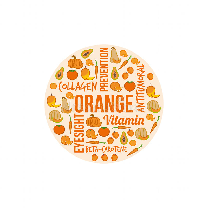 Verdure arancio e frutta royalty illustrazione gratis