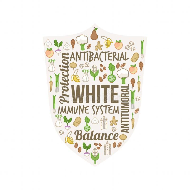 Verdure bianche e frutta royalty illustrazione gratis