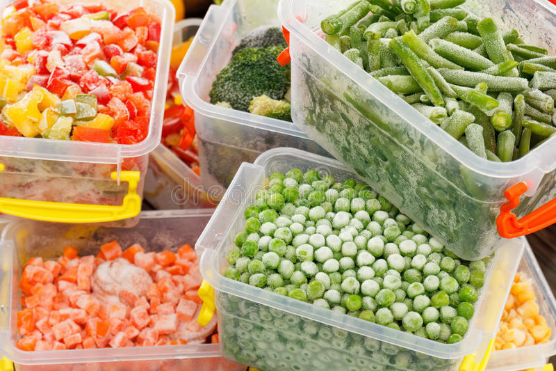 Verdure congelate di ricette degli alimenti immagine stock libera da diritti