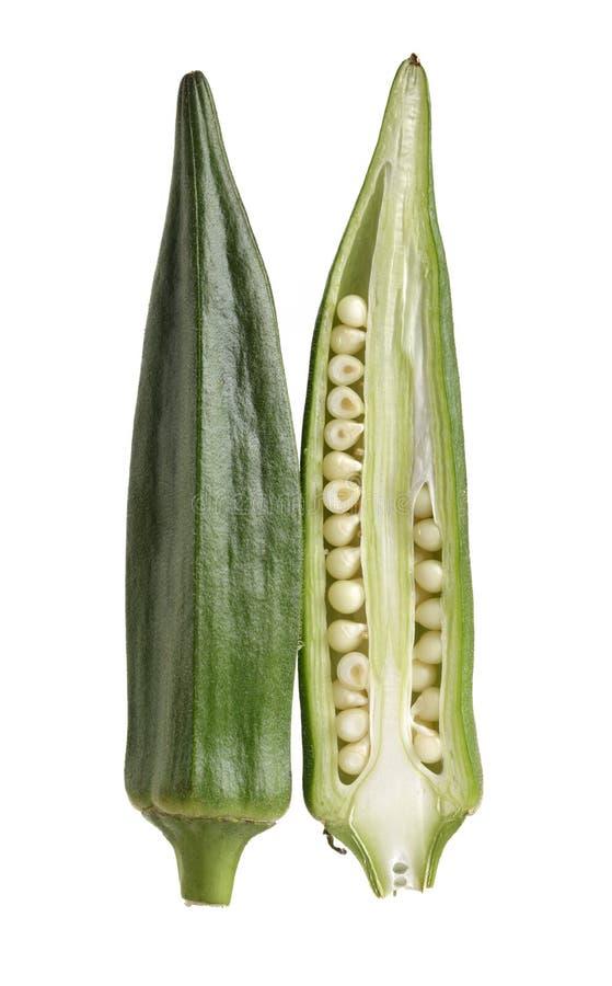 Verdure del gombo con le proprietà medicinali fotografie stock libere da diritti
