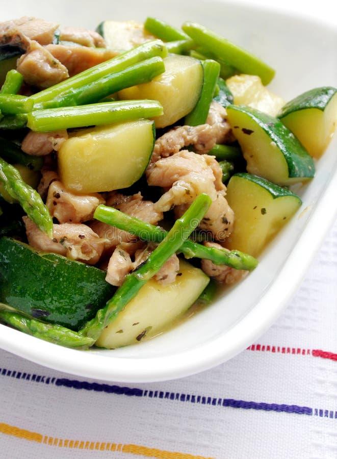 Verdure del pollo stirfry immagini stock