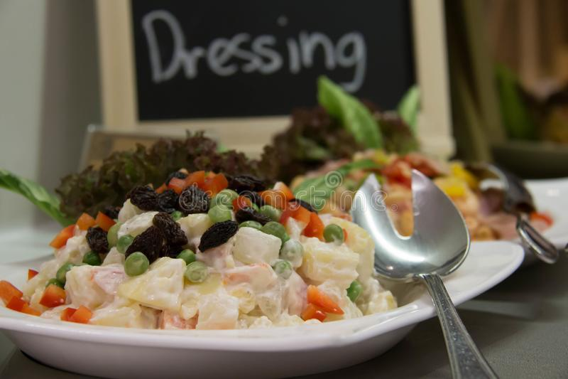 Verdure di insalata e verdi misti immagine stock libera da diritti
