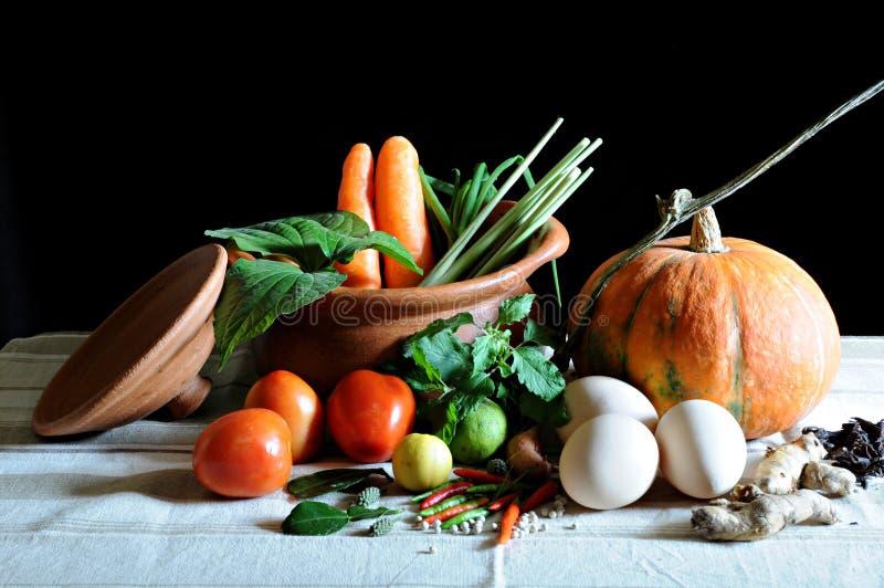 Verdure e cucinare fotografia stock