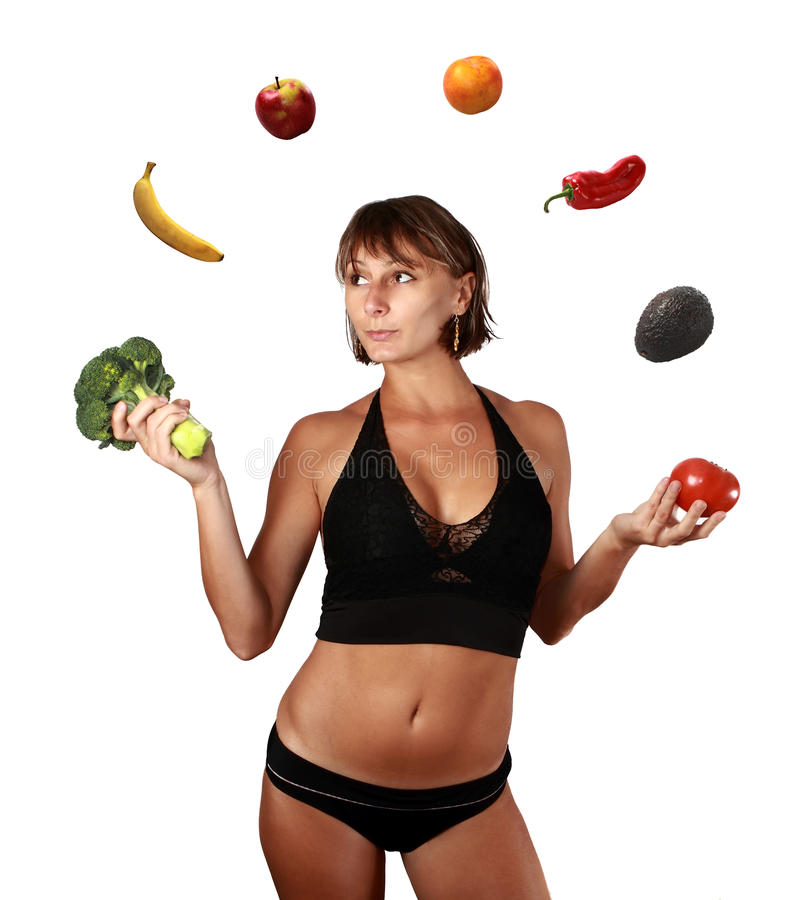 Verdure e dieta di frutti fotografia stock libera da diritti