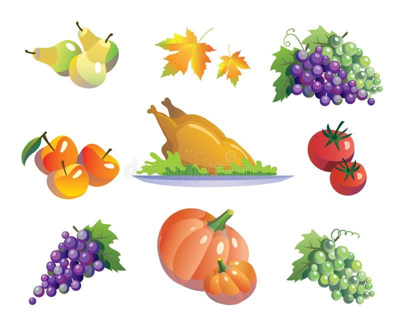 Verdure e tacchino royalty illustrazione gratis