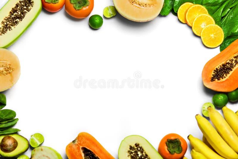Verdure, fondo della frutta Alimento biologico crudo sano Nutritio fotografia stock