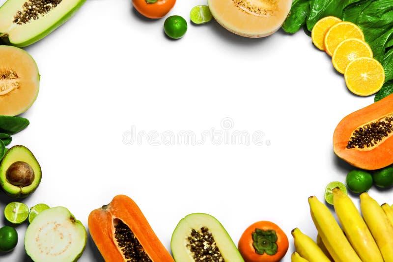Verdure, fondo della frutta Alimento biologico crudo sano Nutritio immagini stock