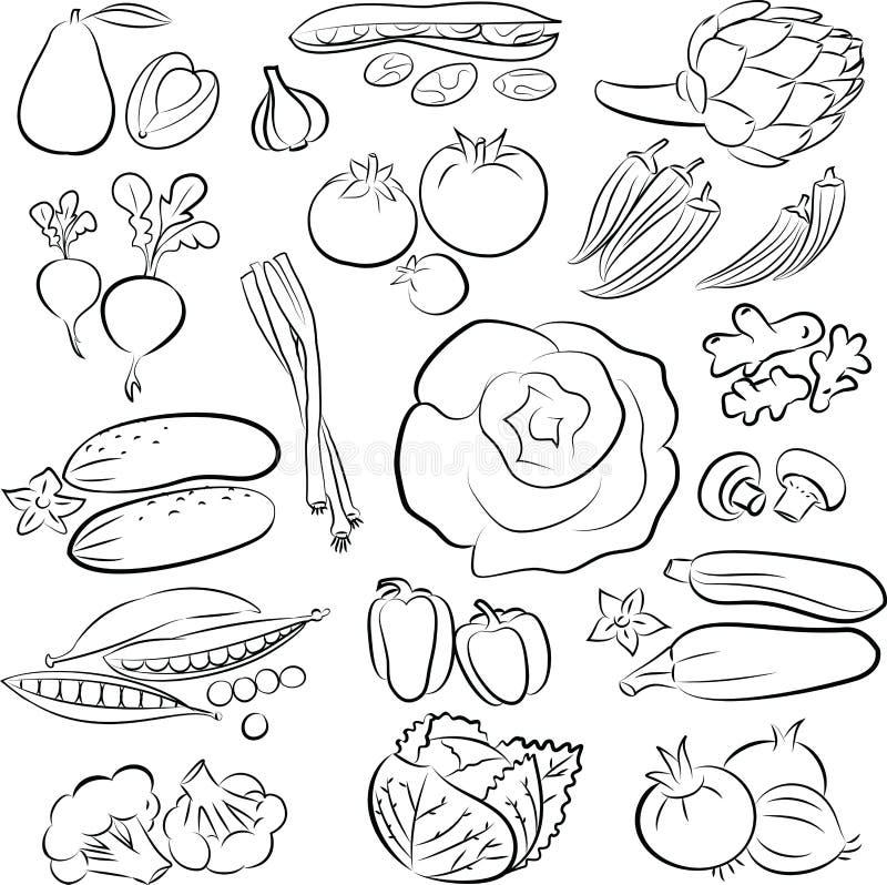 Verdure messe illustrazione vettoriale