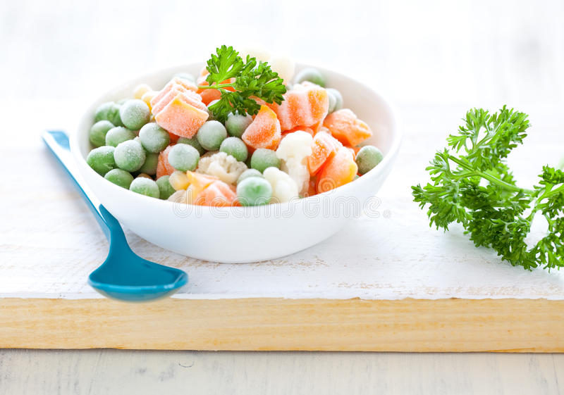 Verdure mixed congelate fresche immagine stock
