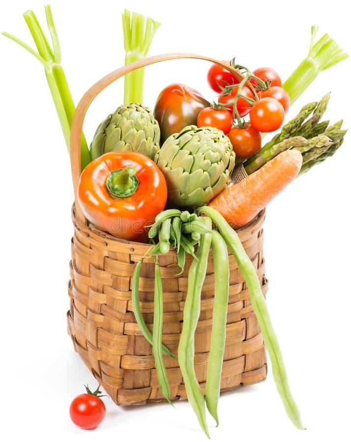 Verdure nel canestro immagini stock libere da diritti