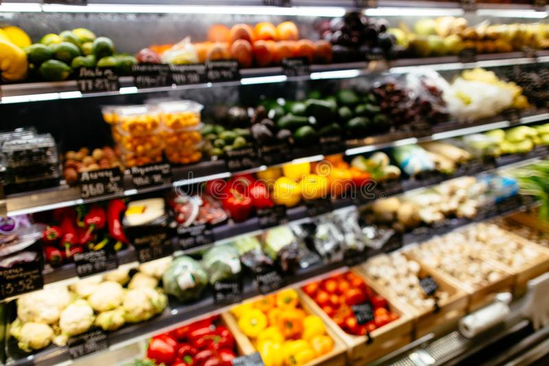 Verdure nel supermercato dell'alimento immagini stock libere da diritti