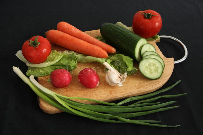 Verdure per insalata fotografia stock