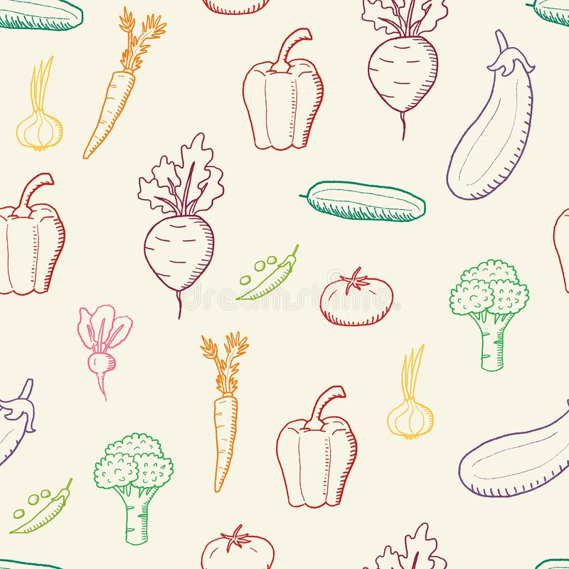 Verdure senza cuciture di vettore illustrazione vettoriale
