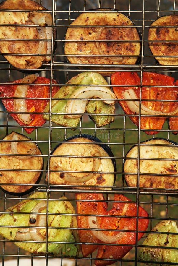Verdure una griglia fotografia stock libera da diritti