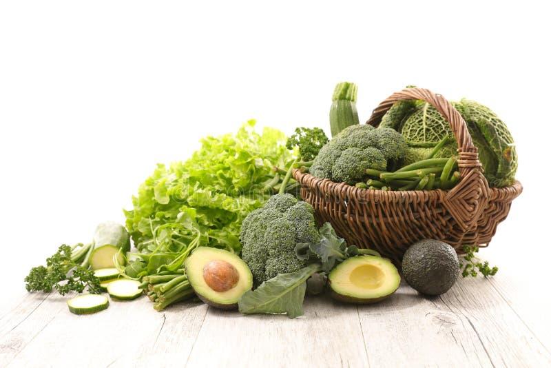 Verdure verdi assortite immagine stock