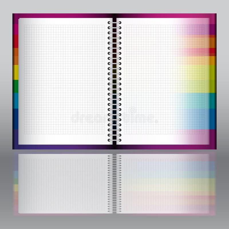 Verdwijnende pagina. stock illustratie