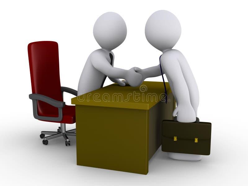 Vereinbarung im Büro lizenzfreie abbildung
