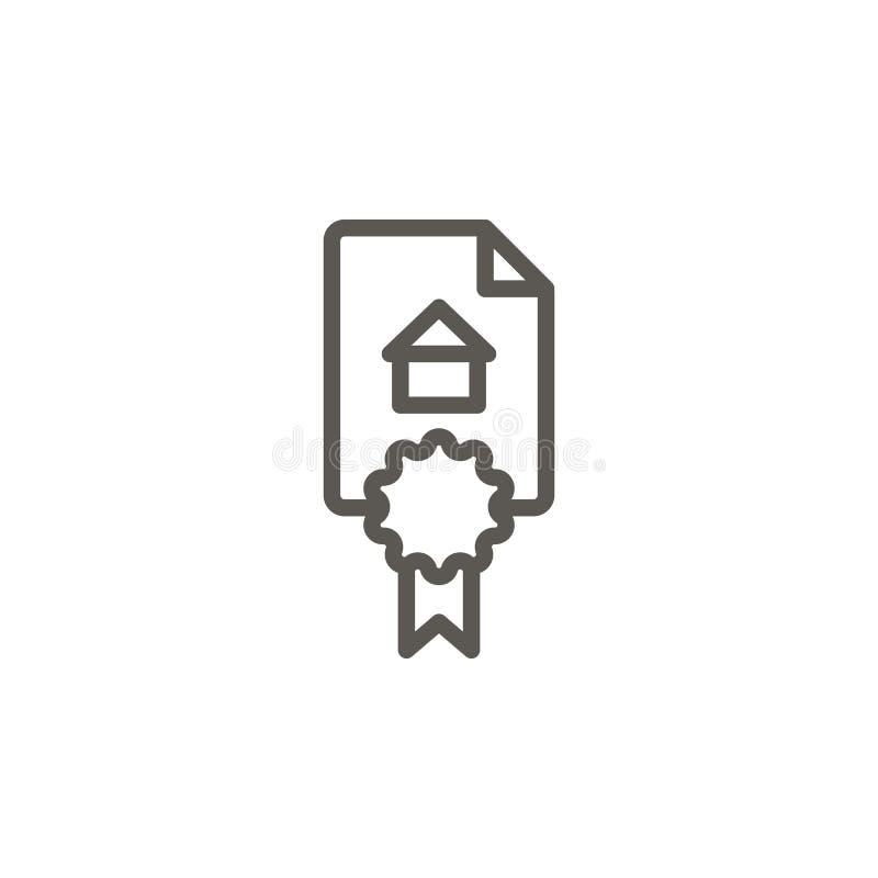 Vereinbarung, Vertragsvektorikone Einfache Elementillustration von UI-Konzept Vereinbarung, Vertragsvektorikone Grundbesitzkonzep stock abbildung