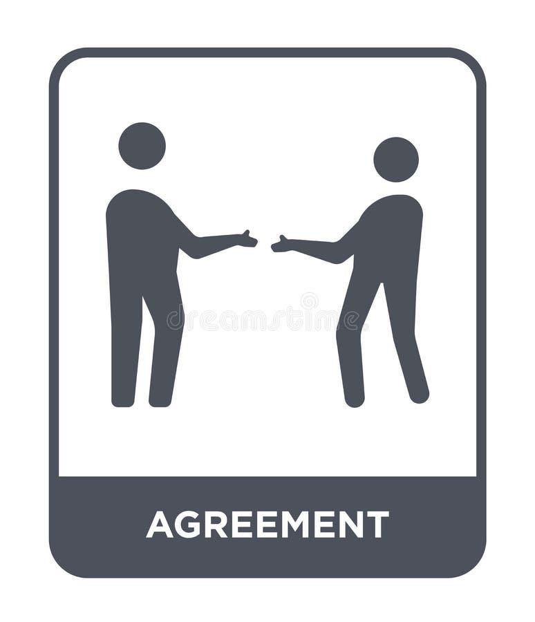 Vereinbarungsikone in der modischen Entwurfsart Vereinbarungsikone lokalisiert auf weißem Hintergrund einfache und moderne Ebene  stock abbildung
