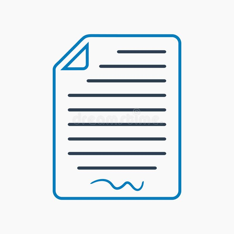 Vereinbarungsikone Flacher Artvektor stock abbildung