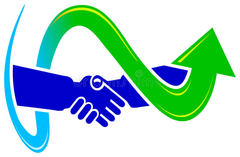 Vereinbarungszeichenauslegung lizenzfreie abbildung