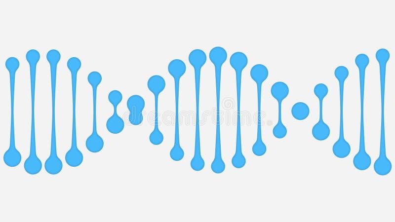 Vereinfachte DNA-Molekülillustration lizenzfreie abbildung