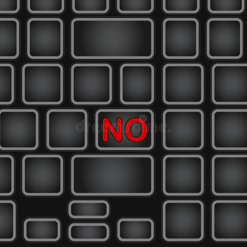 Vereinfachte Tastatur mit nur einem Wort Schwarze Laptoptastatur mit einer Knopfaufhebung Abbildung ENV-10 vektor abbildung