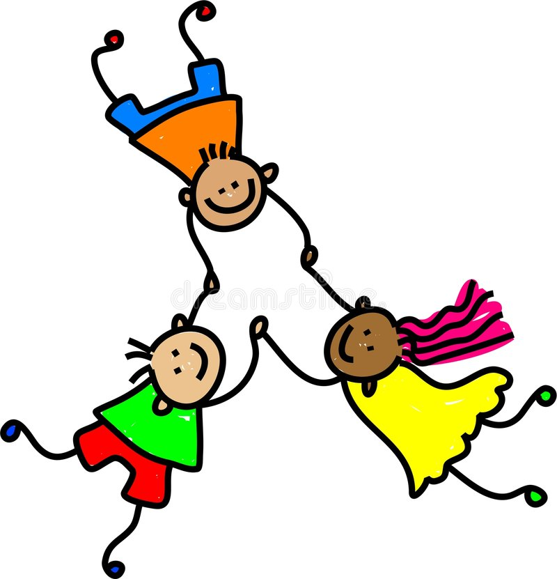Vereinigte Kinder vektor abbildung