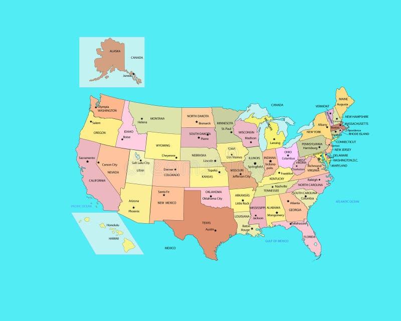 Vereinigte Staaten lizenzfreie abbildung