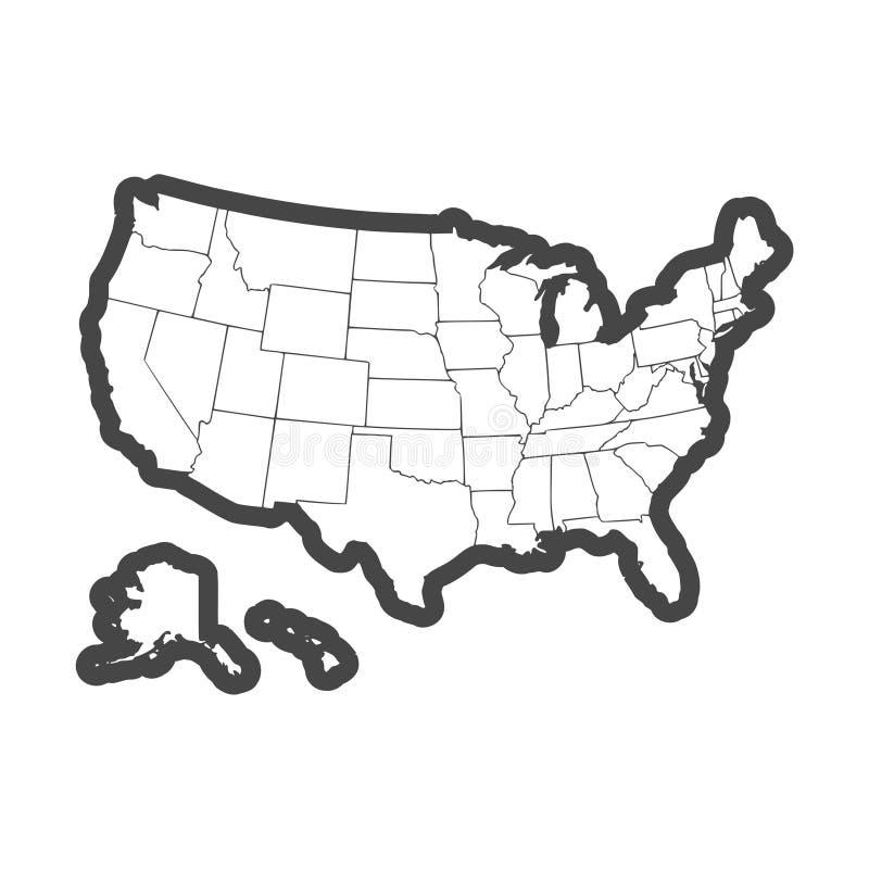 Vereinigte Staaten der amerikanischen Karte vektor abbildung